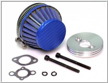 Racing Air Filter Carbon Style bl. ,Baja, Losi, Reely